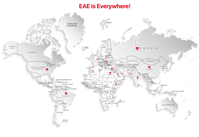 EAE Technology Global Partners Map